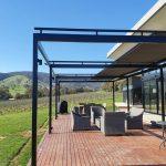 Freestanding Veranda Blind Fully open