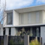 White Vertical Louvres